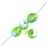 Fire Polished 8mm Transparent Green Aurora Borealis